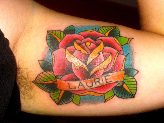 Tatouage Rose Old School Symbolique Rose Et Tattoo Rose Et Amour
