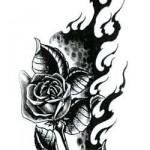 Modèle de tatouage tribal de rose noire