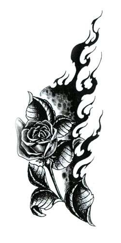 Side-Tattoo-Gothic-Rose-Vine-tattoo.jpg. Size:300x401 - 24k: Flower Vine