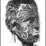 Tatouage guerrier Maori Moko sur le visage