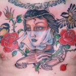 Modèle de tatouage de croix old school