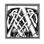Modèle tatouage celtique lettre A