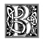 Modèle tatouage celtique lettre B