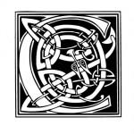 Modèle tatouage celtique lettre C