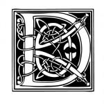 Modèle tatouage celtique lettre D