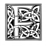 Modèle tatouage celtique lettre F