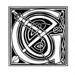 Modèle tatouage celtique lettre G