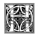 Modèle tatouage celtique lettre H
