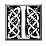 Modèle tatouage celtique lettre I