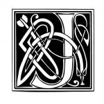 Modèle tatouage celtique lettre J