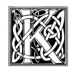 Modèle tatouage celtique lettre K