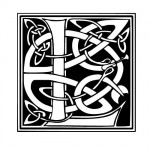 Modèle tatouage celtique lettre L