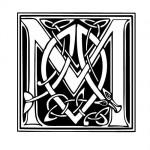 Modèle tatouage celtique lettre M