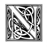 Modèle tatouage celtique lettre N