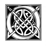 Modèle tatouage celtique lettre O