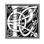 Modèle tatouage celtique lettre P