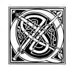 Modèle tatouage celtique lettre Q