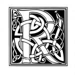 Modèle tatouage celtique lettre R