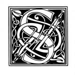 Modèle tatouage celtique lettre S