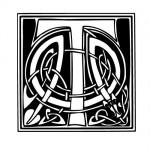 Modèle tatouage celtique lettre T