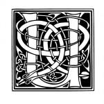 Modèle tatouage celtique lettre U