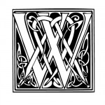 Modèle tatouage celtique lettre W