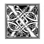 Modèle tatouage celtique lettre X