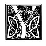 Modèle tatouage celtique lettre Y