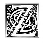 Modèle tatouage celtique lettre Z