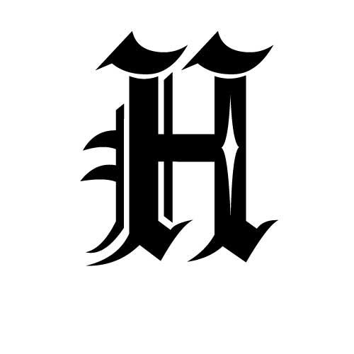 Tatouage criture gothique modle tatouage lettres gothiques modle tatouage criture gothique lettre h thecheapjerseys Image collections