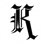 Modèle tatouage écriture gothique Lettre K