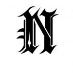 Modèle tatouage écriture gothique Lettre N