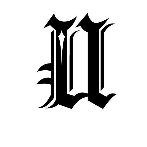 gothiques gothique écriture modèle lettres Tatouage tatouage 56X8q5w