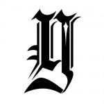 Modèle tatouage écriture gothique Lettre Y