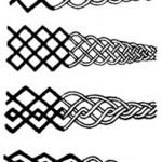 Modèle de tatouage Aïnou Japonais