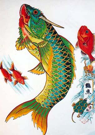 poisson japonais tattoo. - Donovan's Blog: poisson japonais tattoo