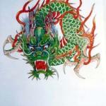 Modèles tatouage japonais dragon