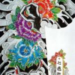 Modèles tatouage japonais fleurs de lotus