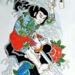Modèles tatouage japonais samourai