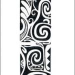 Modèle de tatouage Maori en flash pour tattoo