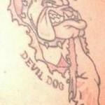 Tatouage militaire bulldog des marines USMC