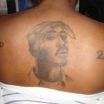 Tatouages de fan de Tupac, portrait