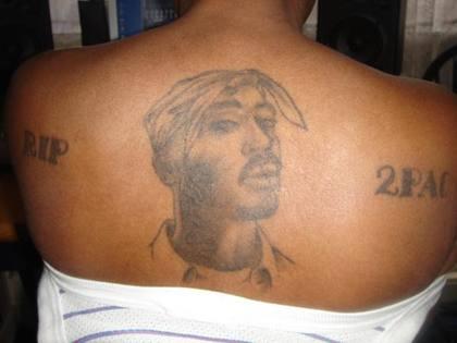 Tatouages de fan de Tupac portrait