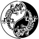 Modèle de tatouage Gecko Maori