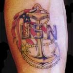 Tatouage militaire US Navy