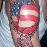 Tatouage militaire patriotique américain