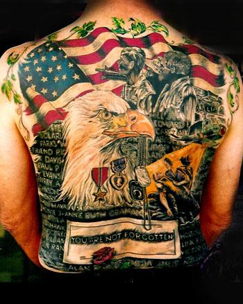Quelques images et exemples de tatouages old school militaires