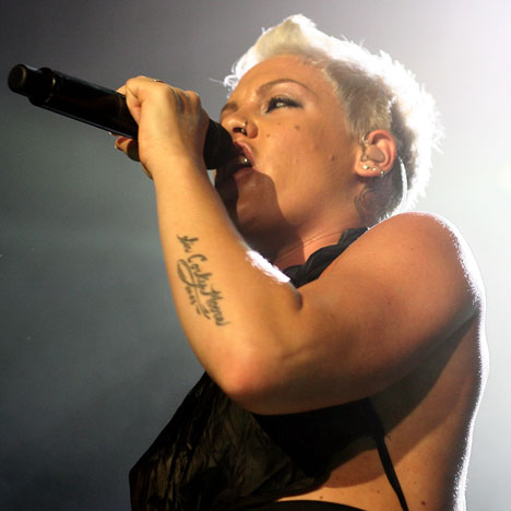 Pink's Tattoos On Her Arm