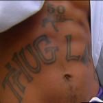 Tatouage de Tupac Thug life