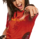 Tatouage d'étoile de Bill Kaulitz de Tokio Hotel sur le ventre